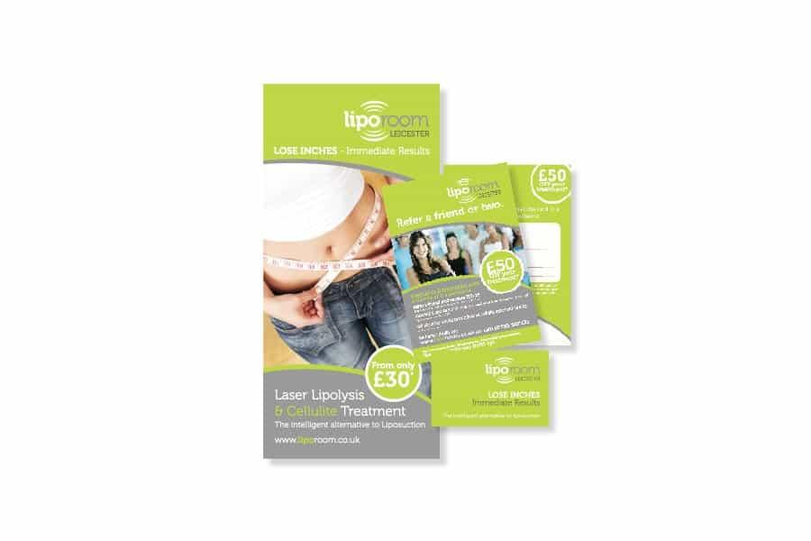 Liporoom leaflet design Leicester